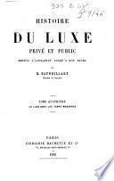 1: *Theorie du luxe ; Le Luxe primitif ; Le Luxe dans l'Orient antique et moderne ; Le Luxe en Grece