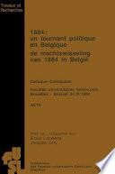 1884 : Un tournant politique en Belgique