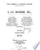 A la maniere de ... Paul Adam, Maurice Barre