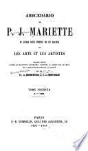 Abecedario de P. J. Mariette et autres notes inédites de cet amateur sur les arts et les artists: A-Col