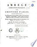 Abrégé chronologique de l'histoire d'Arles