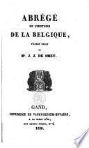 Abrégé de l'histoire de la Belgique