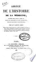 Abrégé de l'histoire de la médecine...