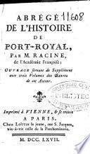 Abrégé de l'histoire de Port-Royal