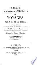 Abrégé de l'histoire générale des voyages: Afrique