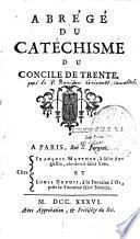 Abrégé du catéchisme du Concile de Trente