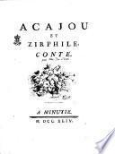 Acajou et Zirphile, conte