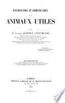 Acclimatation et domestication des animaux utiles