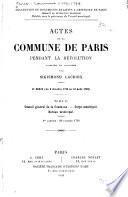 Actes de la Commune de Paris pendant la Révolution