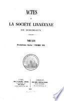 Actes de la Société Linnéenne de Bordeaux