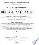 Actes du Gouvernement de la défense nationale, du 4 septembre 1870 au 8 février 1871