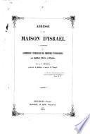 Adresse à la Maison d'Israël à l'occasion de la Conférence universelle des Chrétiens Évangéliques en Juillet 1855, à Paris