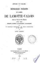 Affaire du collier, memoires inéd. du comte de Lamotte-Valois, publ. par Louis Lacour