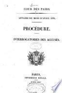 Affaire du mois d'avril 1834
