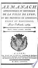 Almanach astronomique et historique de la ville de Lyon
