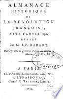 Almanach historique de la révolution françoise pour l'année 1792
