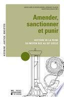 Amender, sanctionner et punir