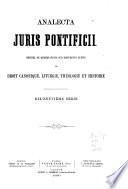 Analecta juris pontificii