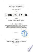 Analyse raisonnée des travaux de Georges Cuvier