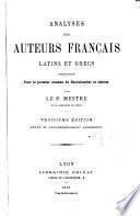 Analyses de auteurs français