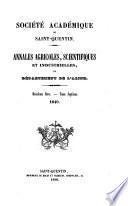 Annales agricoles, scientifiques et industrielles du Département de l'Aisne