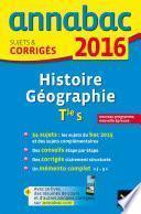Annales Annabac 2016 Histoire-Géographie Tle S