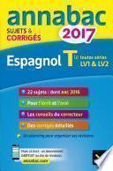 Annales Annabac 2017 Espagnol Tle LV1 et LV2