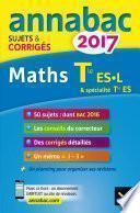Annales Annabac 2017 Maths Tle ES, L