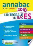 Annales Annabac 2018 L'intégrale Bac ES