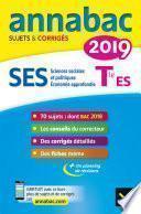 Annales Annabac 2019 SES Tle ES spécifique & spécialités