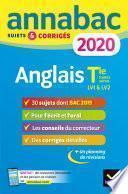 Annales Annabac 2020 Anglais Tle toutes séries LV1 et LV2