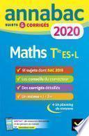 Annales Annabac 2020 Maths Tle ES, L