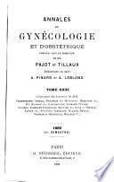 Annales de gynecologie et d'obstetrique. series 1