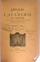 Annales de l'Académie de Mâcon