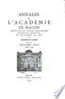 Annales de L'Académie de Mácon
