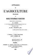 Annales de l'agriculture francoise. Red. par ... Tessier