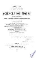 Annales de l'Ecole libre des sciences politiques