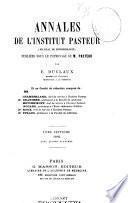 Annales de l'Institut Pasteur