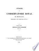 Annales de l'Observatoire royal de Bruxelles