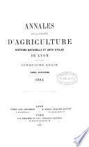 annales de la societe d'agriculture