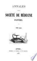 Annales de la Société de médecine d'Anvers
