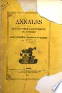 Annales de la Société historique, archéologique et littéraire de la ville d'Ypres et de l'ancienne West-Flandre