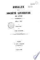 Annales de la Société linnéenne de Lyon