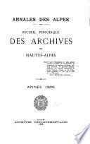 Annales des Alpes