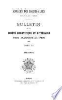 Annales des Basses-Alpes