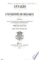Annales des universités de Belgique