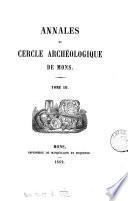 Annales du Cercle Archeologique De Mons Tome III