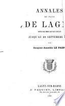Annales du pays de Lagny
