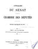 Annales du Sénat et de la Chambre des députés