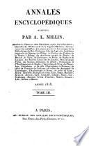 Annales encyclopédiques [formerly Magasin encyclopédique] rédigées par A.L. Millin